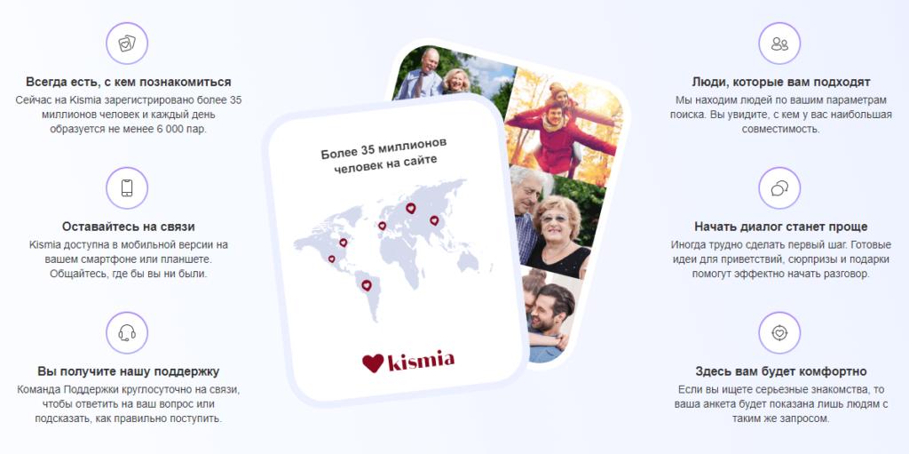 Сайт знакомств для поиска второй половины Kismia